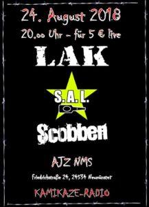 LAK / SAL / Scobben/ PUNK IM AJZ @ AJZ Neumünster | Neumünster | Schleswig-Holstein | Deutschland