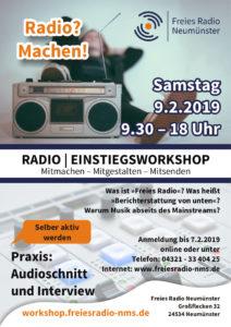 Radio-Einstiegsworkshop @ Freies Radio Neumünster | Neumünster | Schleswig-Holstein | Deutschland