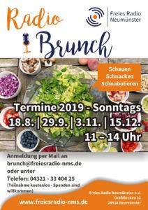 RadioBrunch am 29. September 2019 @ Freies Radio Neumünster | Neumünster | Schleswig-Holstein | Deutschland