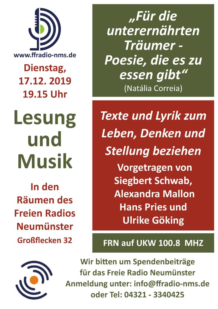 Lesung & Musik @ Freies Radio Neumünster | Neumünster | Schleswig-Holstein | Deutschland