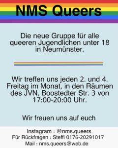 NMS Queers Jugendtreff @ JVN | Neumünster | Schleswig-Holstein | Deutschland