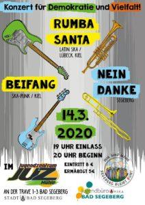 Konzert für Demokratie und Vielfalt @ JUZ Mühle in Segeberg | Bad Segeberg | Schleswig-Holstein | Deutschland